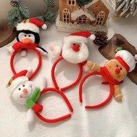 christmas headbands santa tree elk antlers headband kids adult reindeer ornaments party cosplay clothing accessories dropship