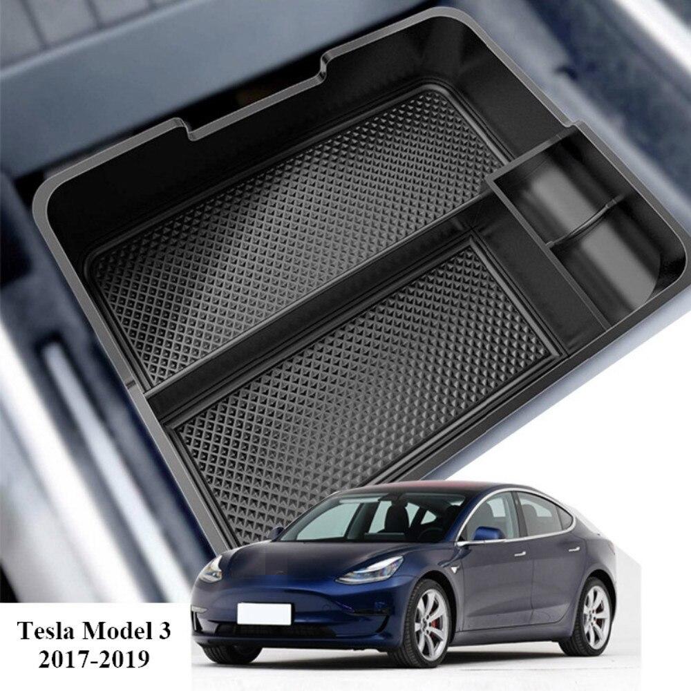Автомобильный центральный подлокотник для Tesla Model 3 BlueStar 2017 2018 коробка для хранения аксессуаров держатель консоли автомобильный контейнер О...