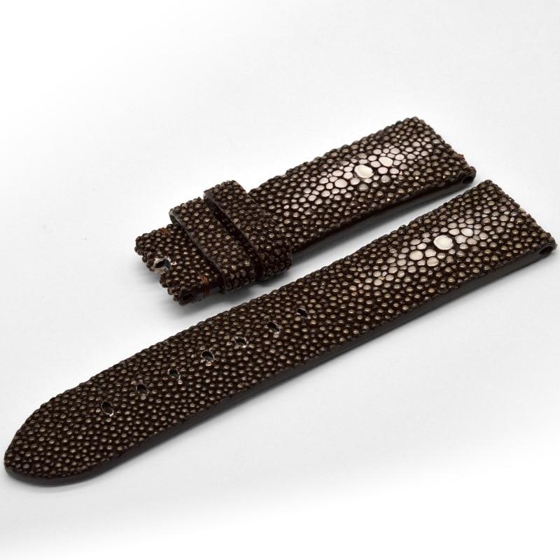 Devil fish strap custom pearl fish leather strap 7-12