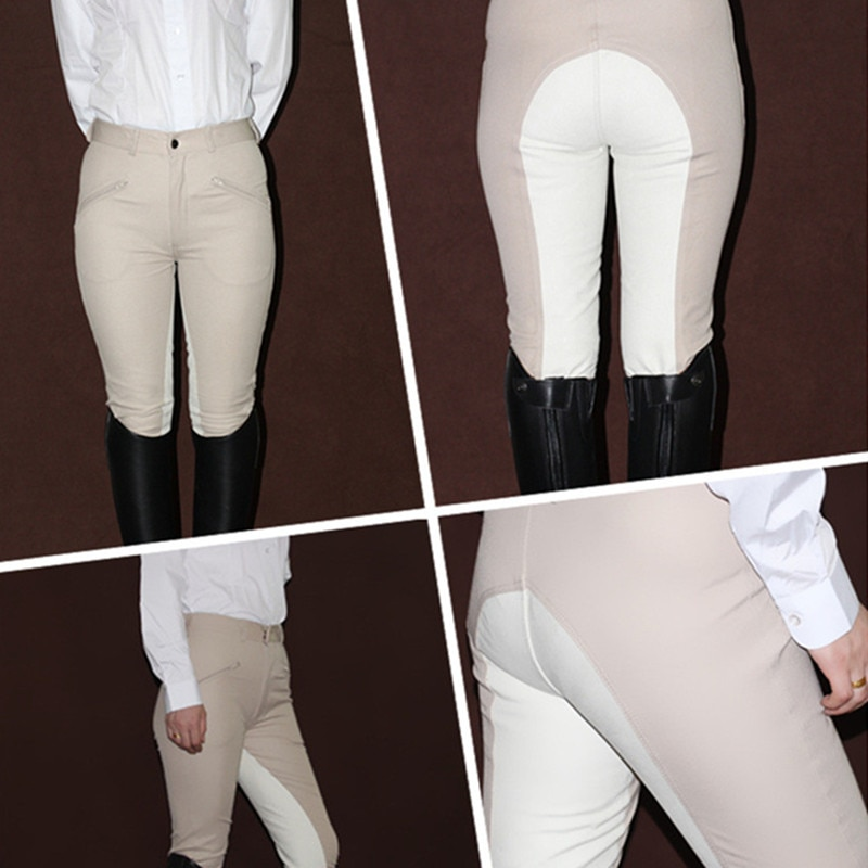 Horse Riding Pants Women Equestrian Breeches Equipment Horse Rider Clothes Trouser Female Womens High Elastic Horseback Pants