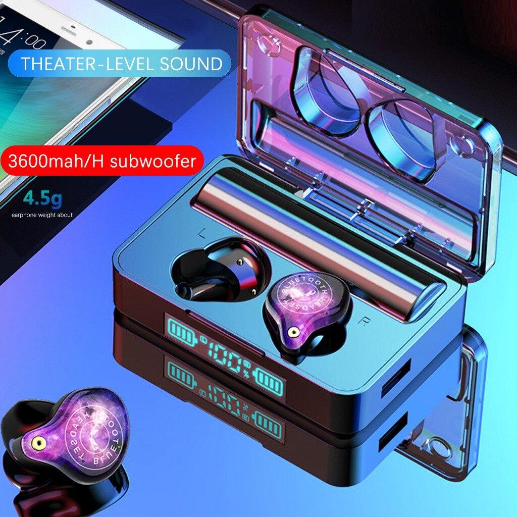 Ouhaobin bleutooth 5.0 tws fones de ouvido sem fio fones estéreo ipx7 à prova dwaterproof água esporte fone de ouvido com display led fones de ouvido 1212 #2