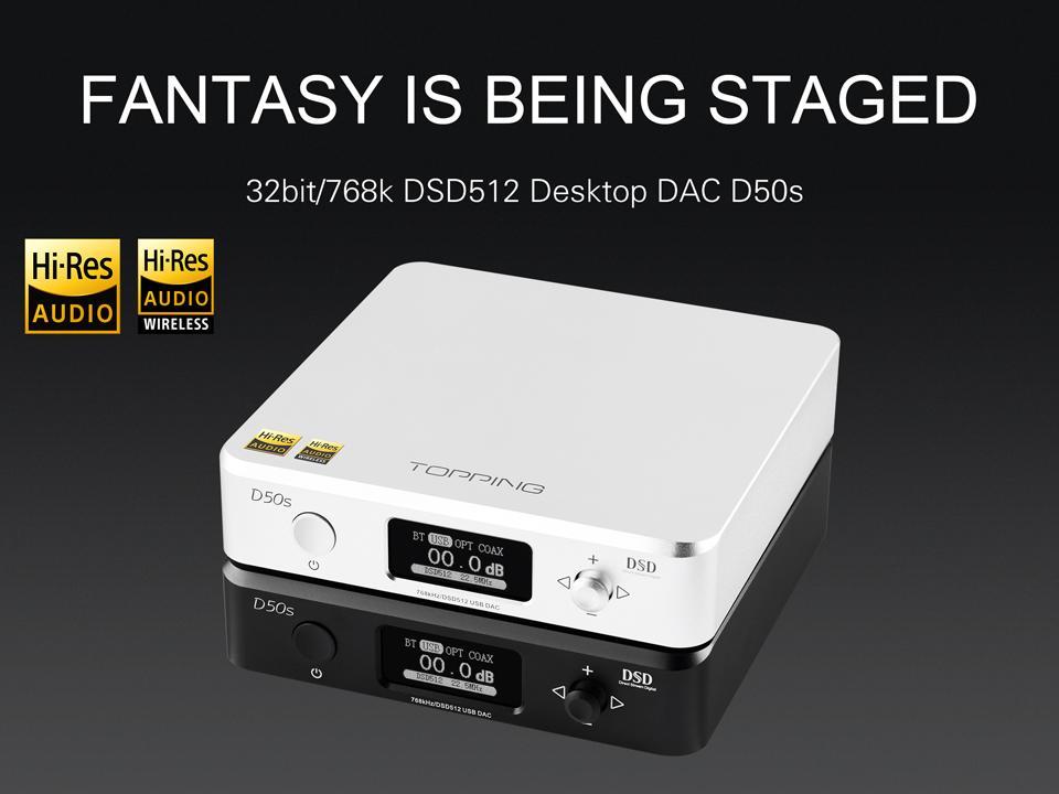 أعلى D50S USB DAC المزدوج ES9038Q2M بلوتوث 5.0 HiFi الصوت سطح المكتب فك مرحبا الدقة PCM 32bit/768k DSD512 LDAC/AAC/SBC/aptX A50S