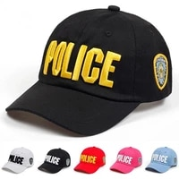 cotton men police letters printed hat baseball cap leisure time snapback outdoor hats golf cap
