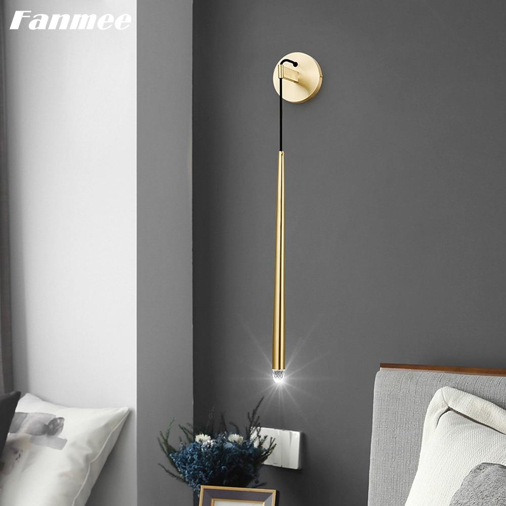 الشمال الخطي الجدار مصباح LED الذهب الأسود المعادن الحديثة الجدار الشمعدان مصباح داخلي تركيب المصابيح لغرفة المعيشة الشرفة نوم بجانب