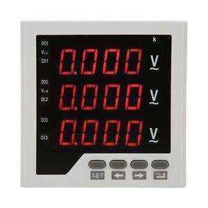 Напряжение детектор DTM-AV96 3 фазы Напряжение Метр Программируемый светодиодный цифровой Дисплей вольтметр переменного тока 450V