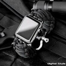 Bracelet de montre Sport pour Bracelet de montre Apple 5 4 3 2 44mm 40mm iwatch 42mm 38mm corde de survie en métal boulon fermoir Bracelet accessoires