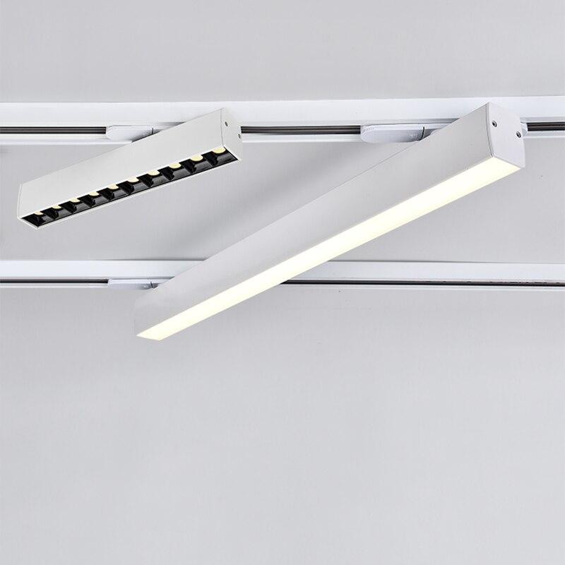 COOJUN موجزة بار من نوع أضواء المسارات 10 واط بسيط جوهر مكافحة وهج الذكاء يعتم ل إضاءة داخلية