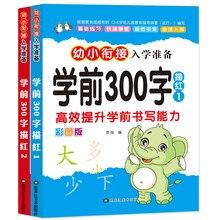 2pcs/set Chinese Basics 300 Characters Han zi writing books exercise book learn Chinese kids adults beginners preschool workbook