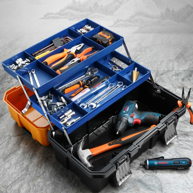 Organizer Professional Tool Box Multifunction Hard Case Waterproof Equipment Tool Box Caisse A Outil Tools Packaging DB60GJ