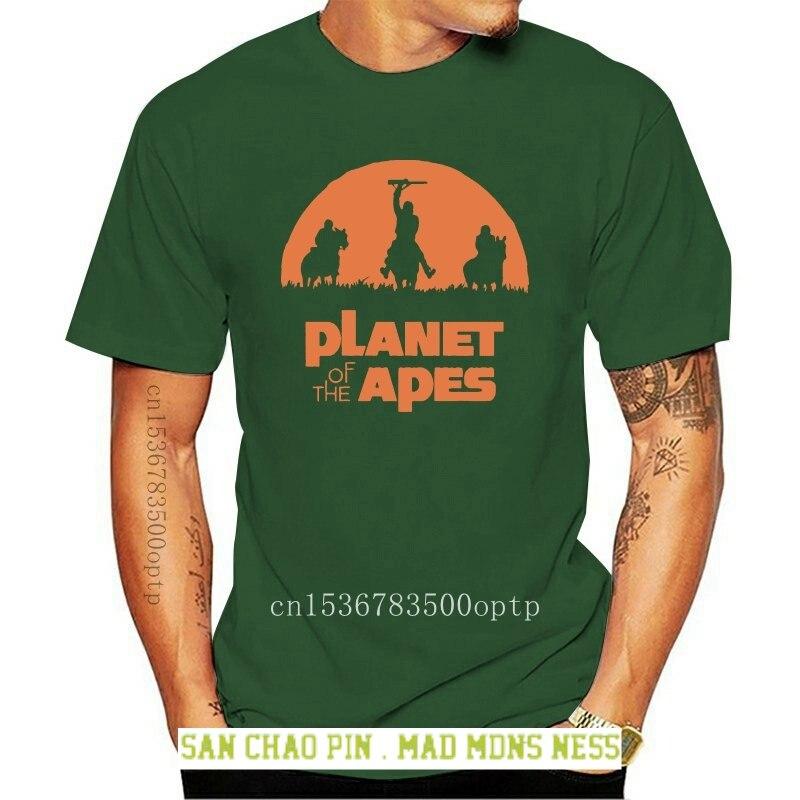 Camisetas negras de planetas de los monos para hombre... ropa de regalo...