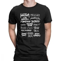 heavy metal classical composers t shirt men mozart beethoven chopin bach mendelssohn male tees cotton o neck clothes t shirt