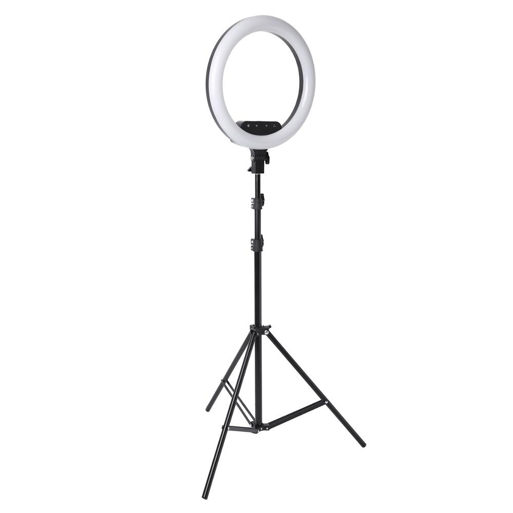 14inch 18inch Remote Touch LED Ring Light Camera Phone Photography Large Ring Lamp With Tripod For shooting makeup video studio enlarge
