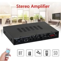 Amplificateur de puissance Surround stereo AV 2000W 5CH 220V  Bluetooth  avec Radio FM SD  USB  telecommande  karaoke  cinema pour la maison