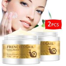 2 pièces sérum visage Ginseng crème escargot Anti-âge hydratant humide nourrissant soins de la peau importé Anti-rides raffermissant soins du visage