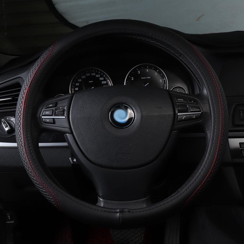 Protector para volante de coche antideslizante accesorios de cuero auténtico para Vauxhall CROSSLAND X GRANDLAND X KARL Meriva MOKKA X Vectra C