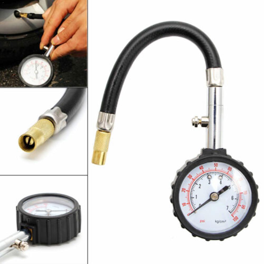 Universal longo tubo mini pneu do carro testador de pressão ar calibre bicicleta conveniente para carro veículo sistema medidor monitor do motor a0r9