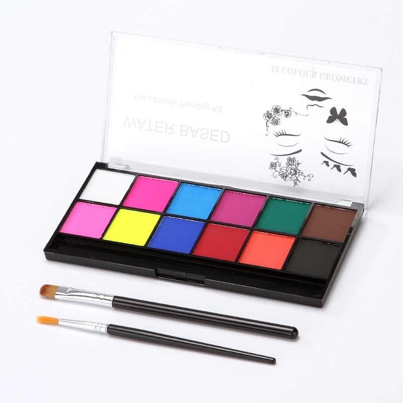 2021 12 Colors Face Body Art Paint Water Based Oil Painting Halloween Party Fancy Dress Beauty Makeup Tool