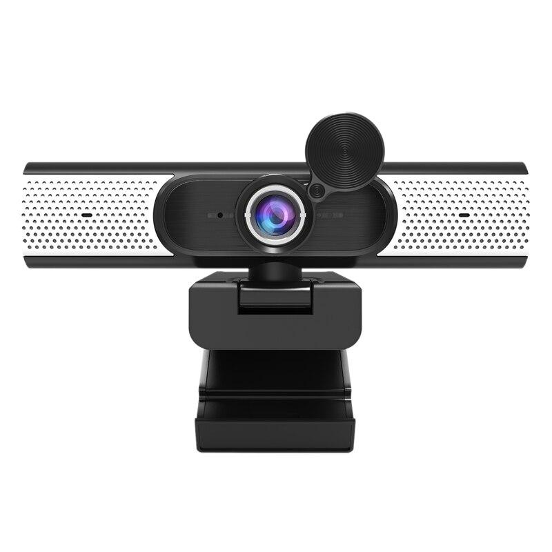 USB فئة Webcam1080p 2 مليون شبكة HD بث مباشر كاميرا الكمبيوتر المدمج في مضخم صوت وظيفة للرؤية الليلية