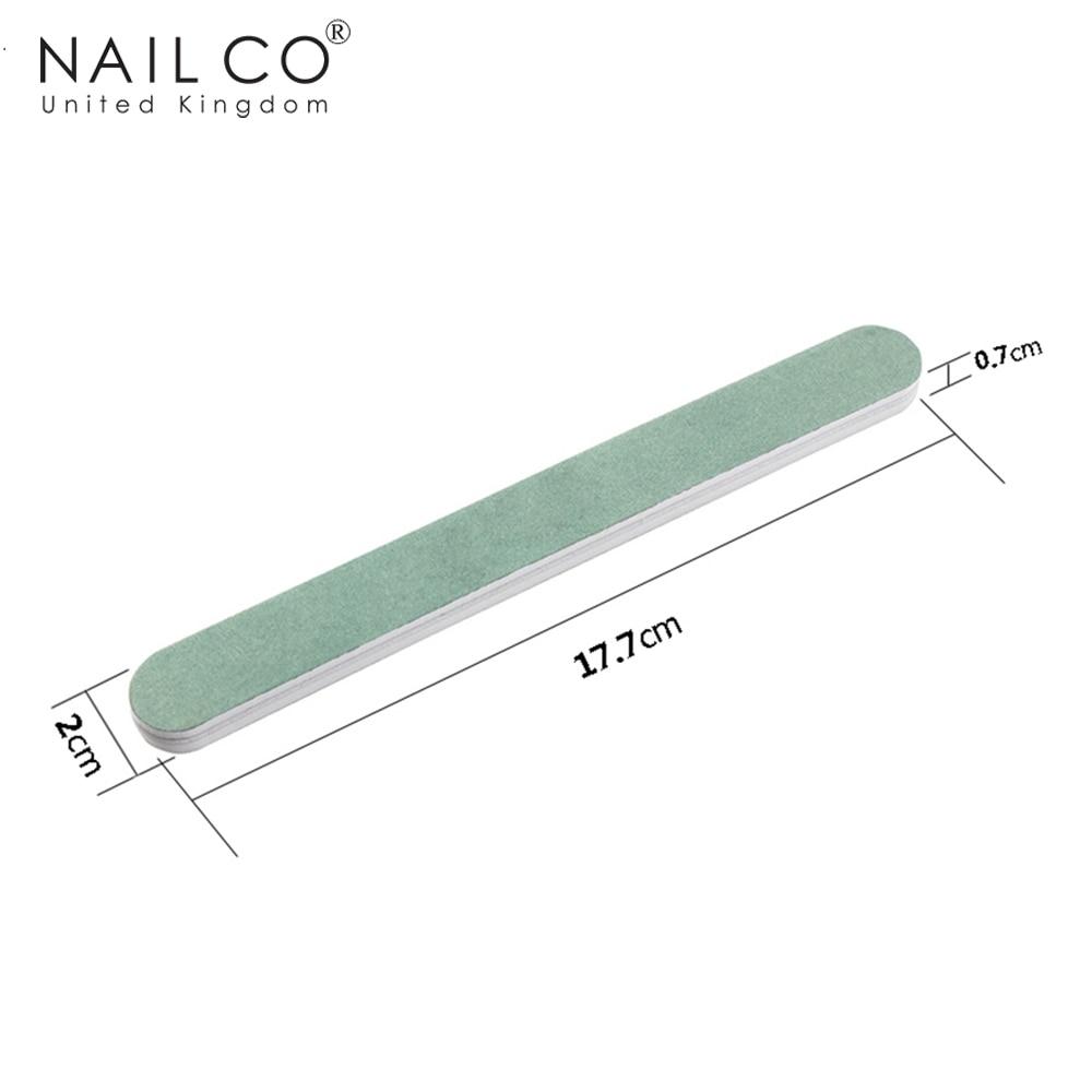 Arte Clavo esponja verde pulido tira arena barra goma Frosted doble lados profesión manicura Arte salón herramienta reparación