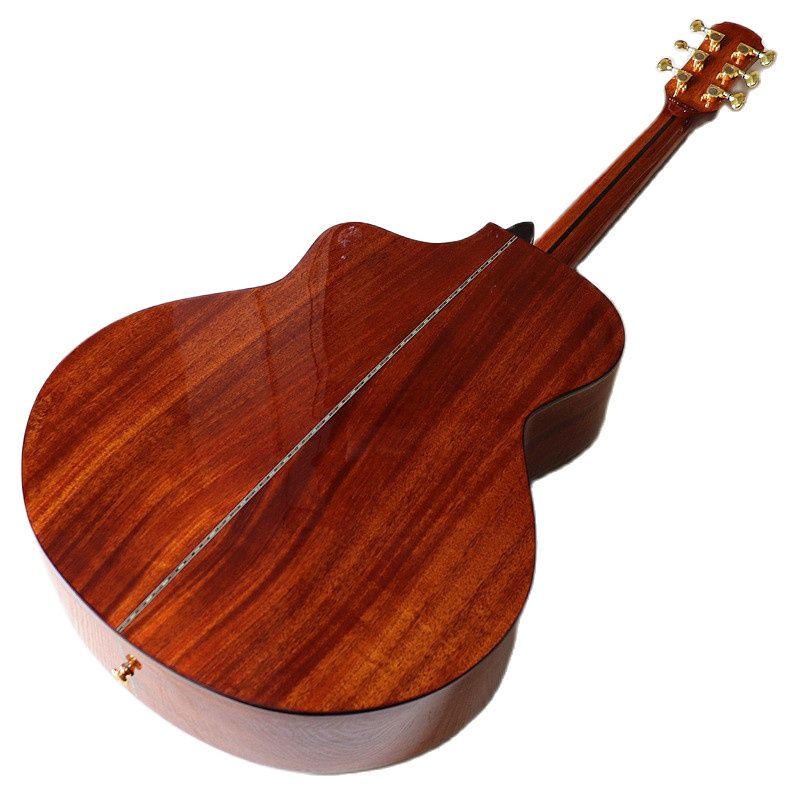 41 inch full sapele solid wood acoustic guitar brown high gloss finish 6 string folk guitar enlarge