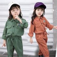 Costume pour enfants filles   Ensembles de vêtements pour enfants filles, ensemble de chemises et pantalons à manches longues, survêtement pour enfants, collection automne