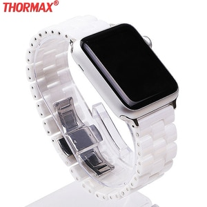 Ceramic Watchband for Apple Watch 5/4 40mm 44mm Bracelet Clasp Strap 38mm/42mm for iwatch Series 5 Series 4/3 Replacements band
