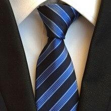 Nouveaux vêtements de cérémonie affaires cravate hommes mariage affaires tenue cravate accessoires mode 8cm de large noir rayé hommes cravate hommes cadeaux