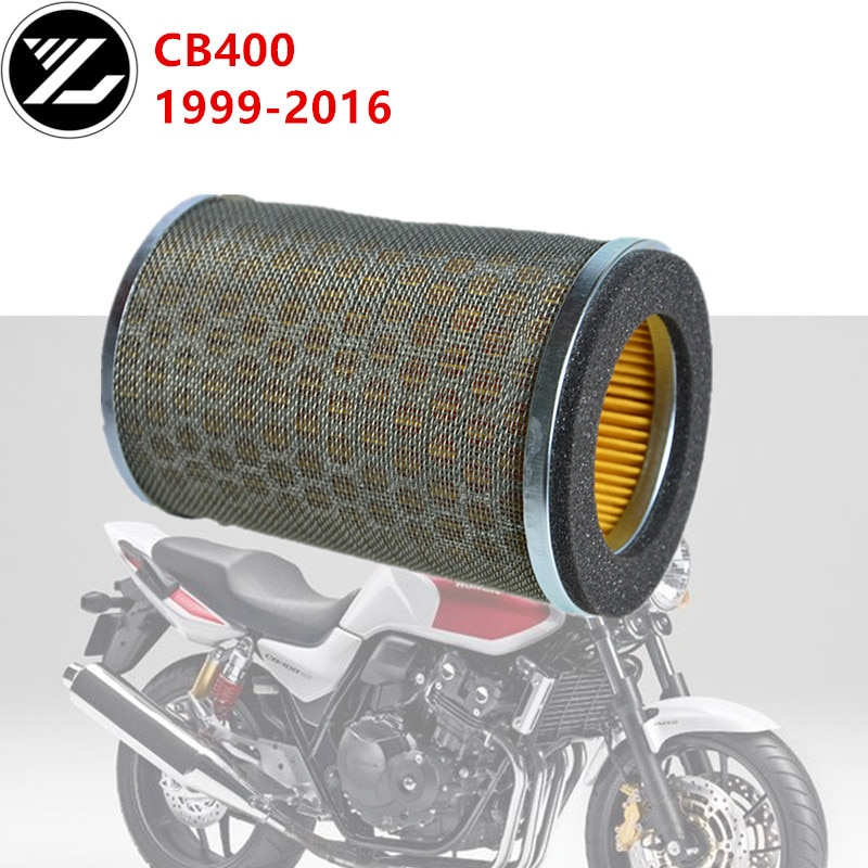 Motocicleta filtro de entrada ar mais limpo para honda cb350 cb400 cx400 cb450 cx 500 gl500 prata asa cb400sf superfour cb400 cb500