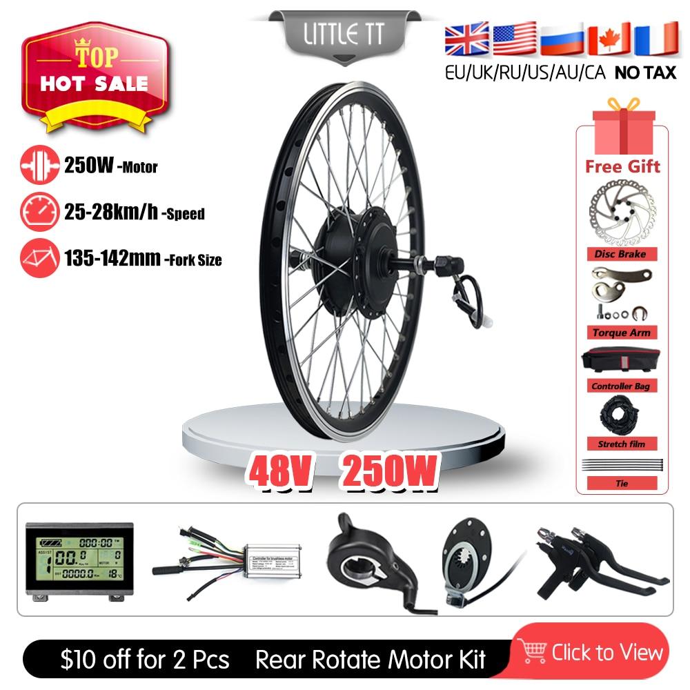 Kit de conversión de bicicleta eléctrica, rueda de Motor de cubo giratorio...