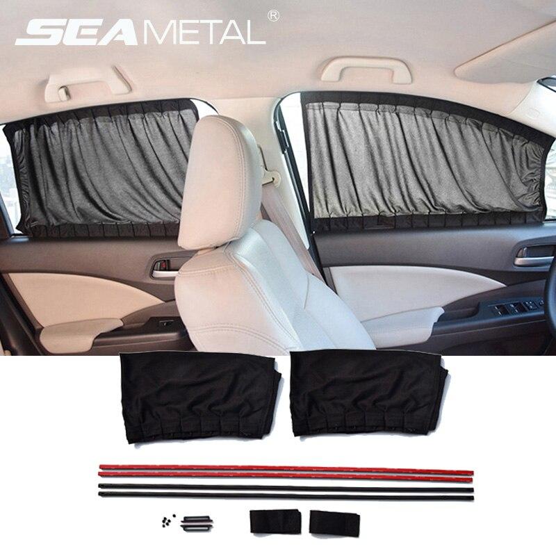 Cortina de la ventana del coche cubierta parasol Auto parasol lateral ventana escudo Universal Interior coches Protector de cortina accesorios de sol