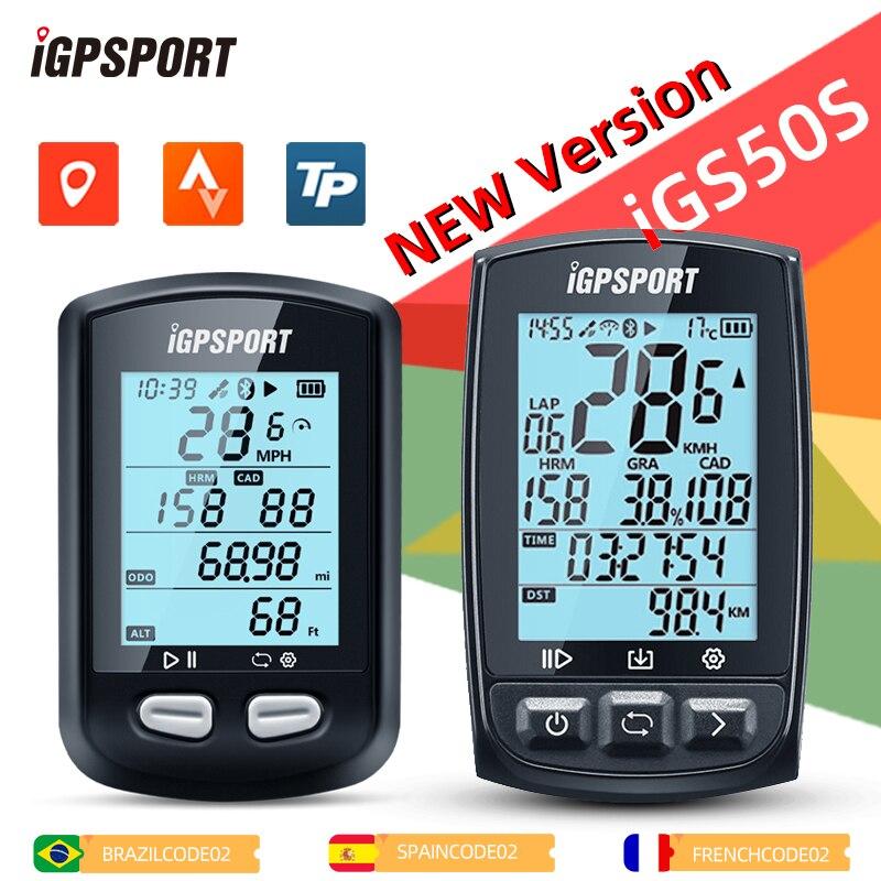 Велосипедный компьютер i GPS PORT iGS10S iGS50S, водонепроницаемый дорожный велосипедный одометр, спортивный спидометр, минеометр для верховой езды