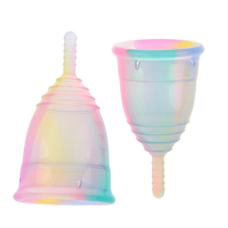 Женская менструальная чашка, цветная менструальная чашка медицинского силикона для женской гигиены, горячая распродажа