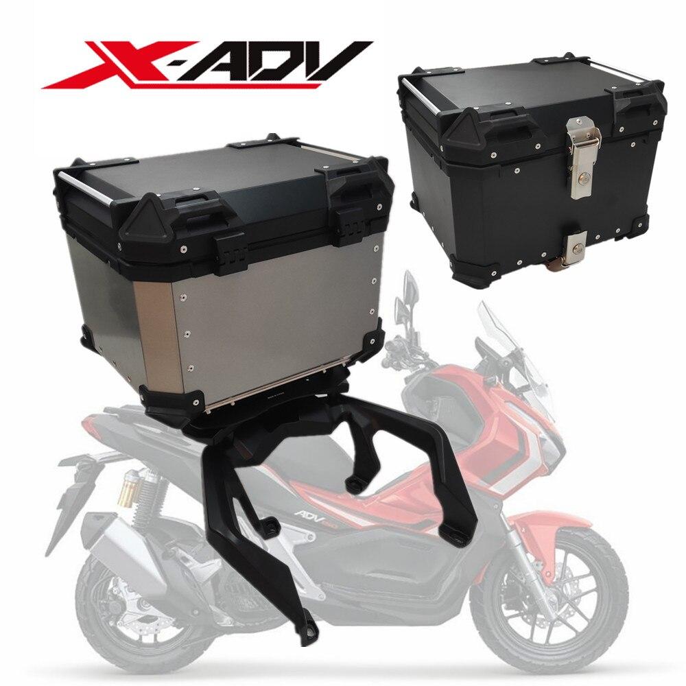عالية الجودة لهوندا X-ADV 150 XADV X-ADV150 مربع خلفي حقيبة أمتعة موتو دراجة نارية الجذع العلوي 45L 55L 65L مقاوم للماء