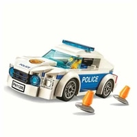police bricks city series police catch thief starter set compatible with 60136 assembled building blocks christmas boy