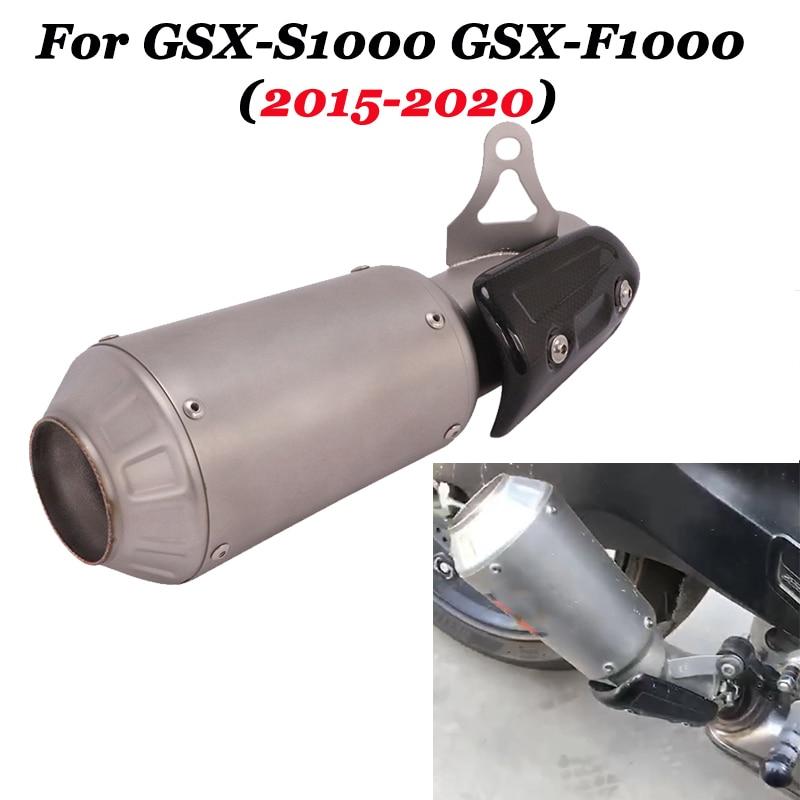 Slip para SUZUKI GSX-S1000 GSX-F1000 GSXF2015-2020 de la motocicleta GP tubo de Escape modificado silenciador medio conectar el tubo de conexión