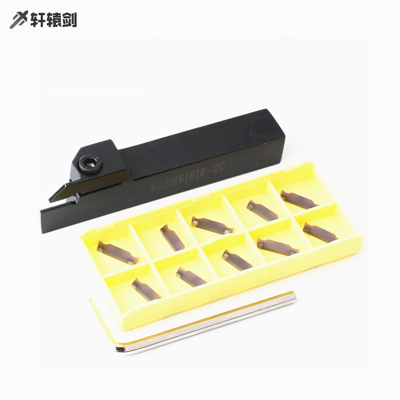 1pc mgehr1616 la herramienta del sostenedor 10 Uds ranurado hoja MGEHL2020 3 MGMN200 MGGN300-JM XM9030 1,5 5mm bien de carburo de herramienta de torneado