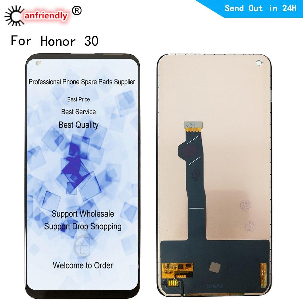 6.53 ''Honor 30 LCD لهواوي الشرف 30 2020 BMH-AN10 LCD عرض لوحة اللمس شاشة محول الأرقام مع الإطار الجمعية 1080x2400