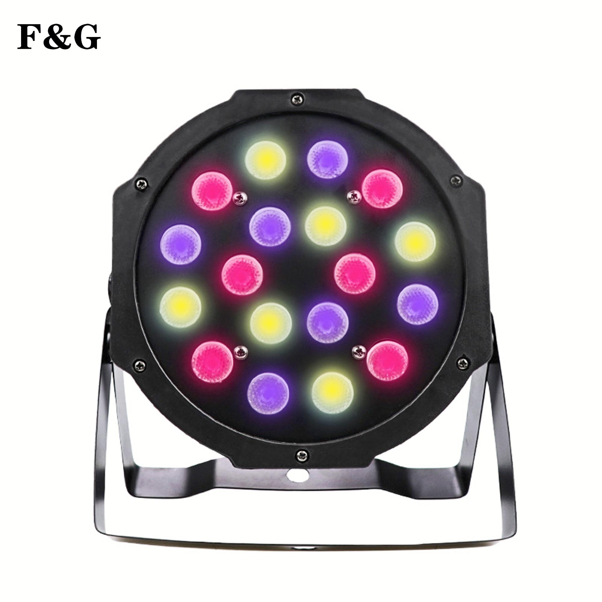 Luz LED RGB para escenario, bola mágica de cristal, DMX, 110-240V, para discotecas, clubs y fiestas, 18