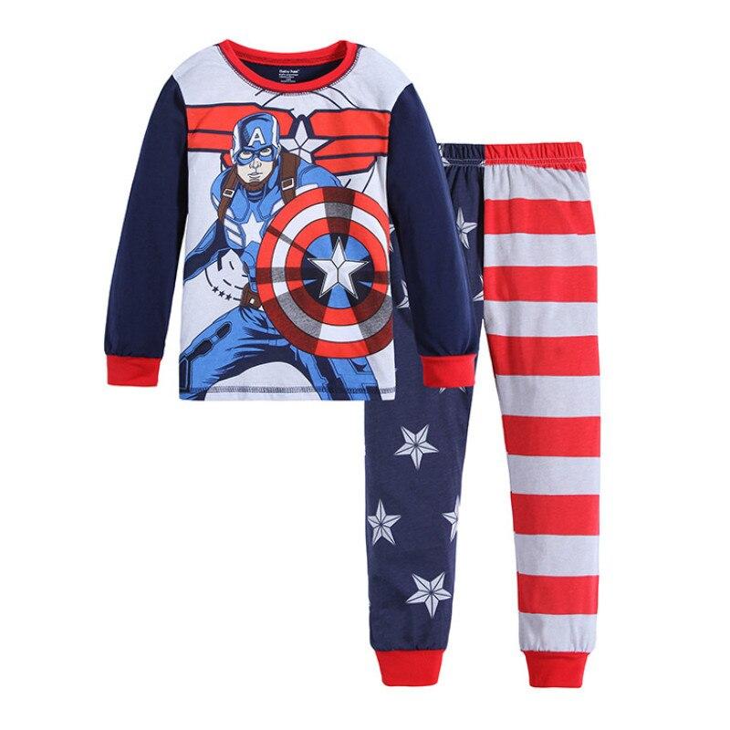 Marvel/пижамы для мальчиков с Бэтменом; Хлопковые детские пижамы с героями мультфильмов; Одежда для сна; Пижамный комплект для маленьких детей; Комплект одежды для маленьких мальчиков с Бэтменом