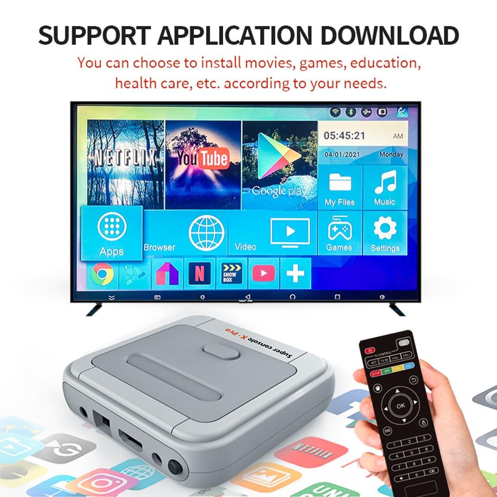HD 4K TV Video Game Super Console X-pro For PS1/N64/DC 50+ Emulators 50000+ Games 256GB S905X CPU Game Player