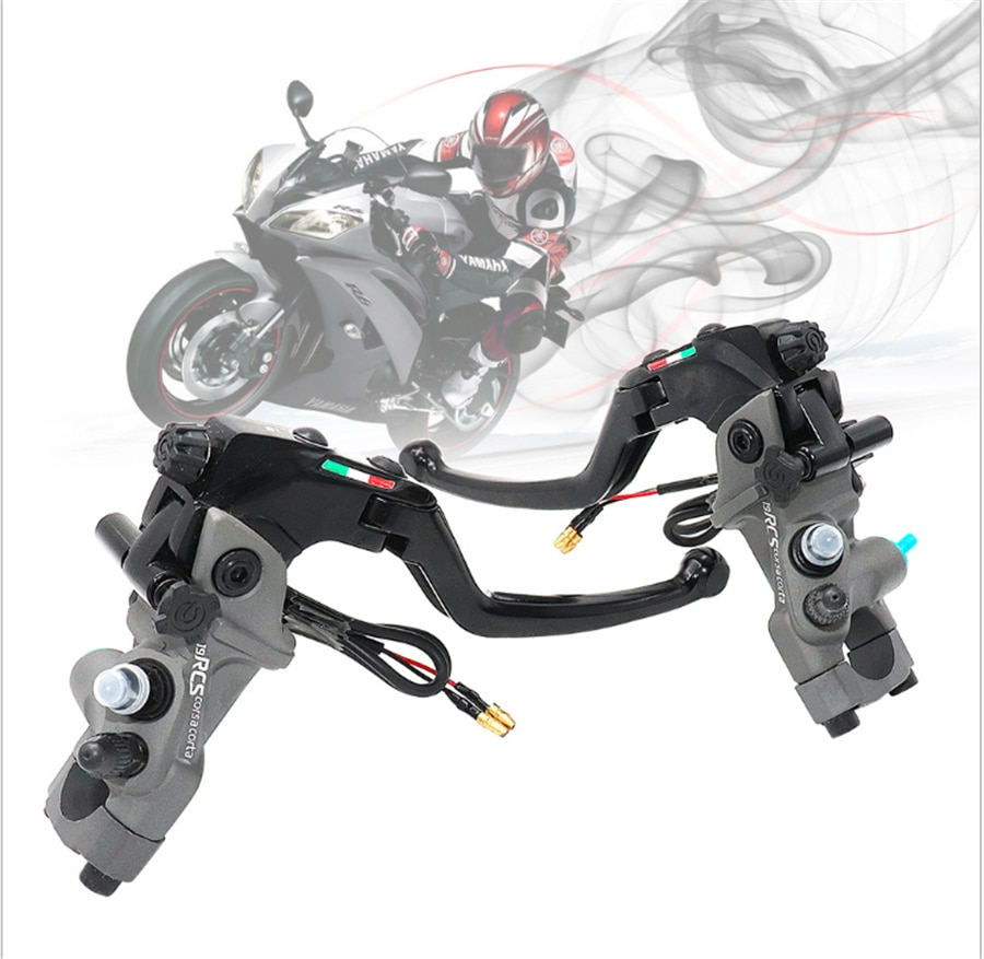Right Left Sides CNC 19 RCS Motorcycle Brake Master Cylinder Cable Clutch Radial Brake Pump 22mm Universal motorcycle brake pump buggy scooter universal cylinder hydraulic clutch handle accessories left right black silver brake lever