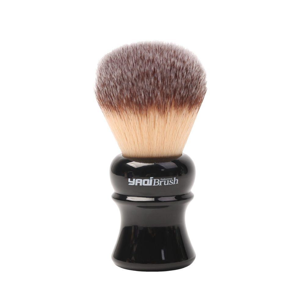 yaqi 24mm moka express synthetic hair shaving brush Yaqi 24mm Black Handle Yellow Synthetic Hair Knot Wet Shaving Brush
