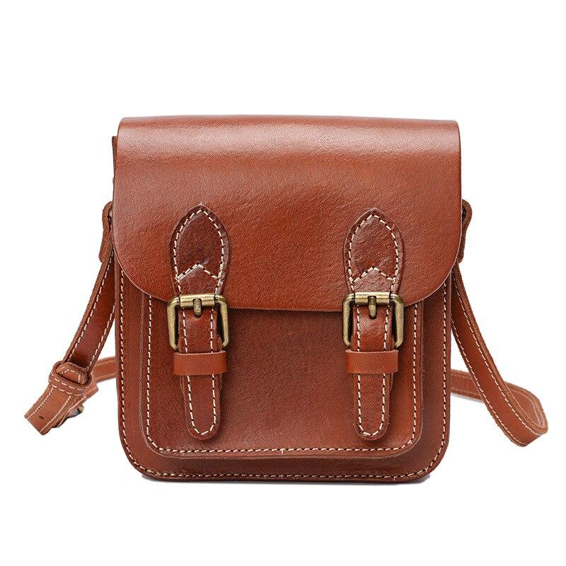 جلد كامل الحبوب المرأة حقيبة جلدية اليدوية حقيبة صغيرة ريترو ماسنجر حقيبة حقيبة كتف رفرف حقيبة