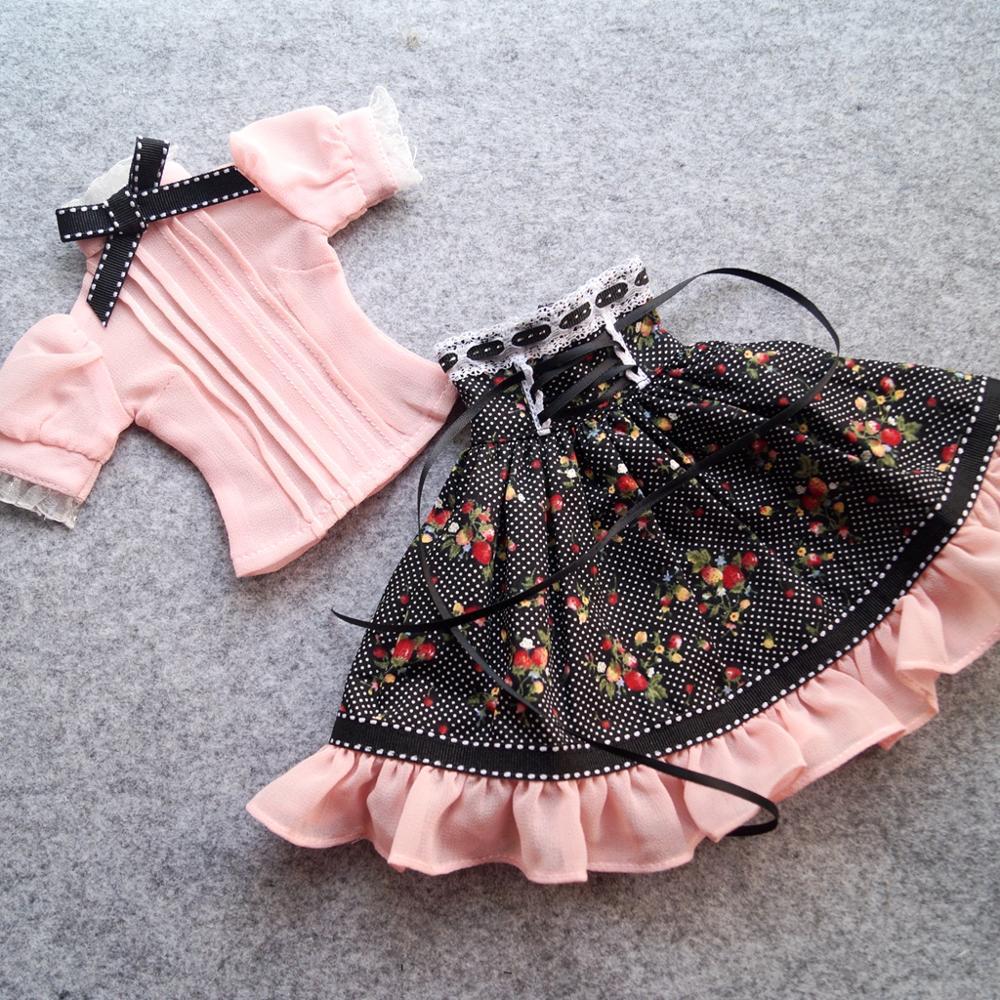 "BJD Pink Long Dress Skirt Outfits Clothing Coat For  1/4 1/3 24"" Tall Female BJD doll  MSD SD13 DK DZ AOD DD Doll Wear"