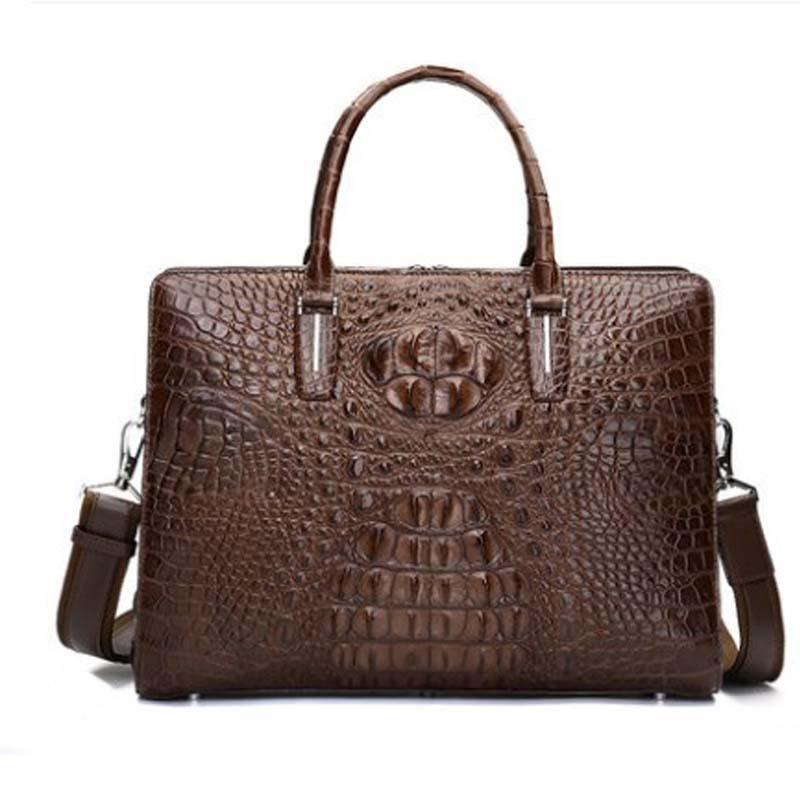 hanlante Thailand  Crocodile handbag man's genuine leather bag  man's bag high-end man's briefcase