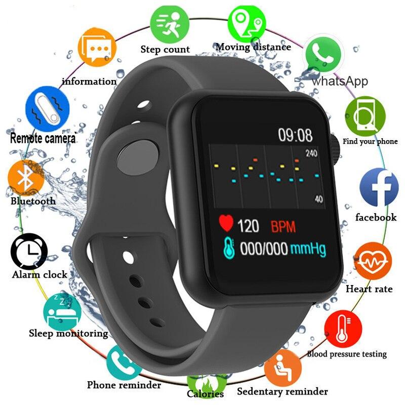 Умные часы V6 с Bluetooth для мужчин и женщин, умные часы с тонометром, спортивный трекер, шагомер, умные часы, часы для Android IOS A2