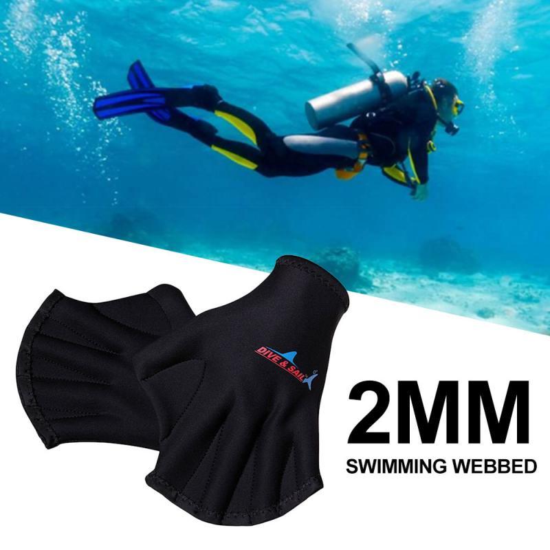 Guantes de buceo, guantes de natación con correa para dedo, guantes con red de rana, buena elasticidad, equipo de buceo duradero de alta calidad