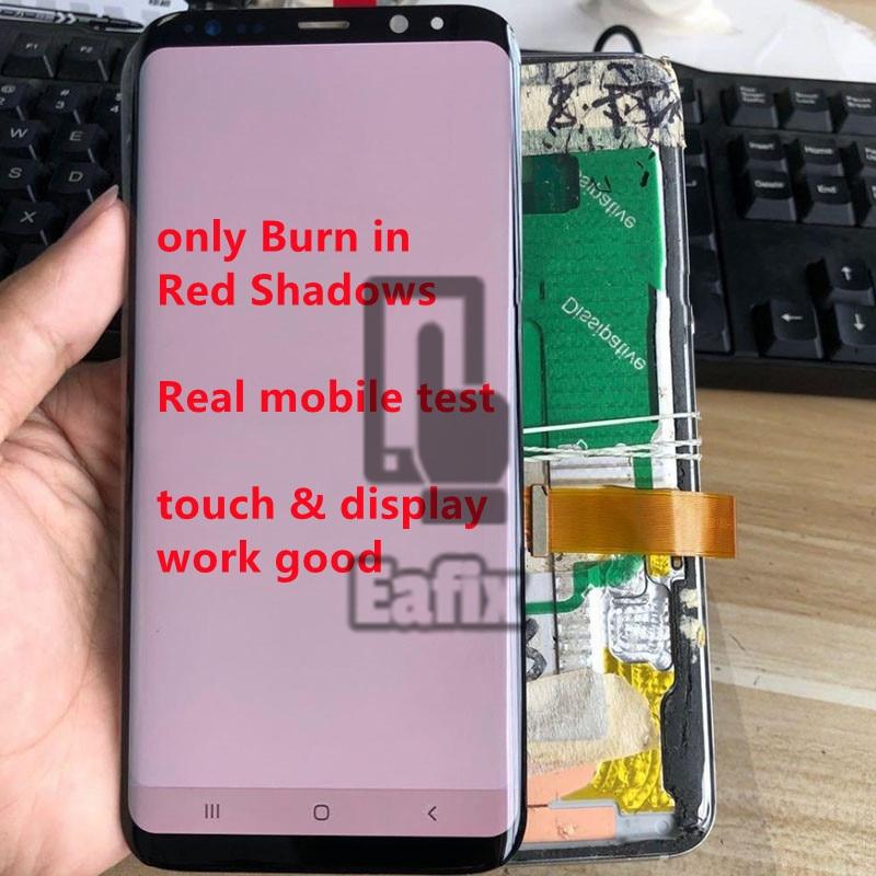 Burn in Shadows Original Samsung Galaxy S8 LCD With Frame G950F G950U Touch Screen S8 Plus G955F G955U  Assembly Adhesive Tools enlarge