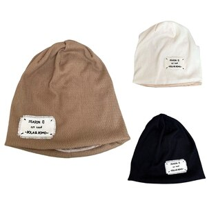 M89E Solid Color Hipster Fashion Hats Plush Warm Ear Protection All-match Beanies