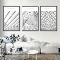 abstract creative building canvas paintings unique posters and print wall art pictures for living room bedroom studio decor